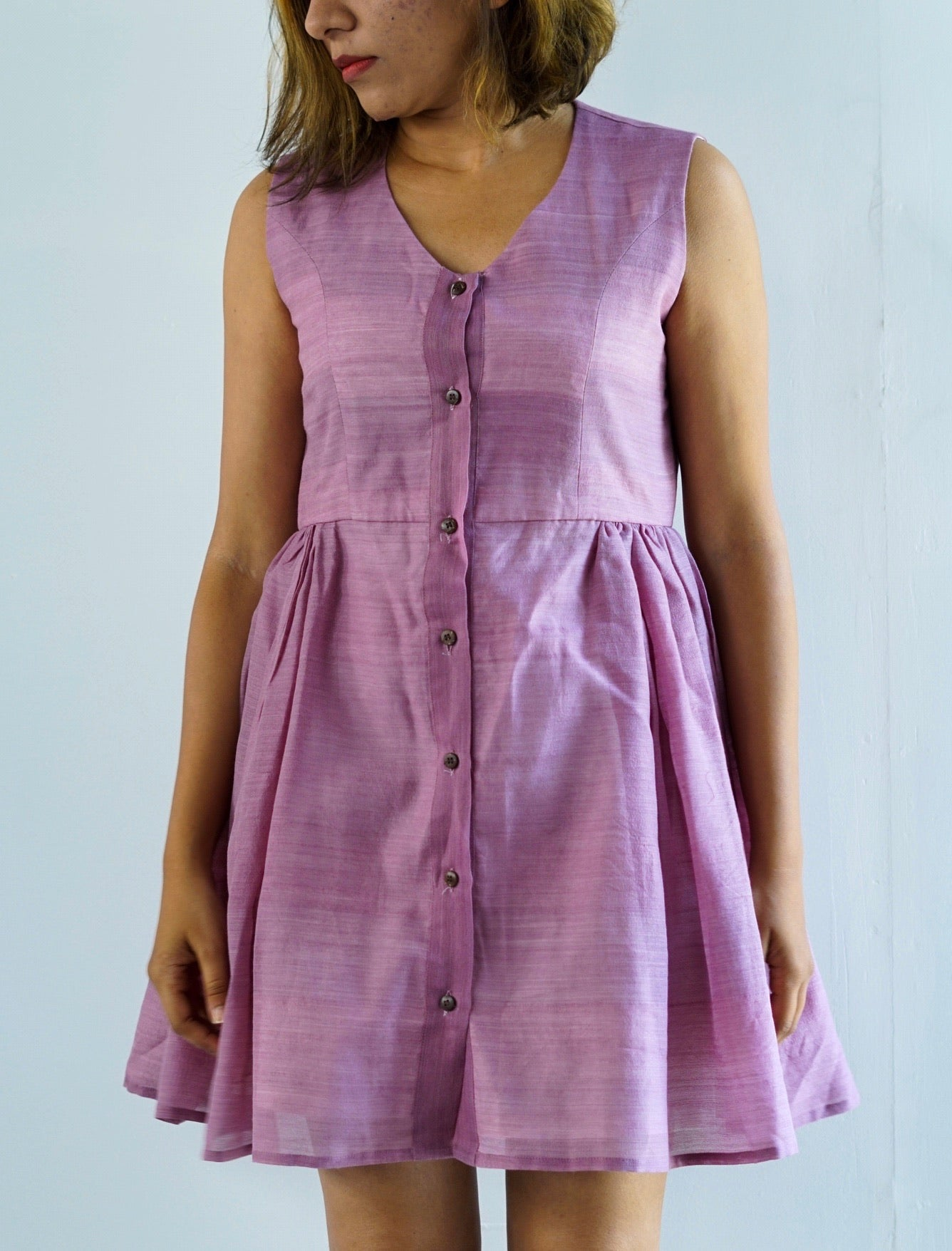 Purple mulberry dress