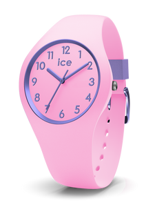 ICE WATCH Ola Kids Collection Purple Case 34mm (S) Pink Dial Pink Strap