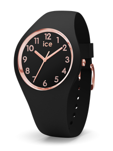 ICE WATCH Glam Black Rosegold Numbers Medium 3H