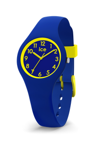 ICE WATCH Ola Kids Collection Yellow Case 28mm (XS) Blue Dial Blue Strap