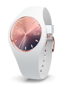ICE WATCH Sunset Collection Rose Gold Case 40mm (M) Pink Purple Dial White Strap