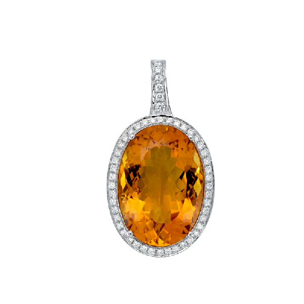 18ct Gold  Citrine  Pendants