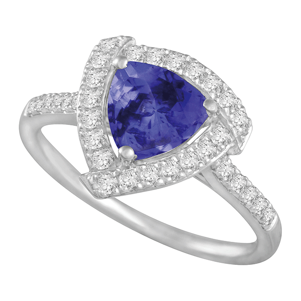18ct Gold Trilliant Tanzanite Ring