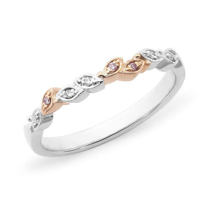 PINK CAVIAR 0.04ct Pink Diamond Ring in 18ct White Gold