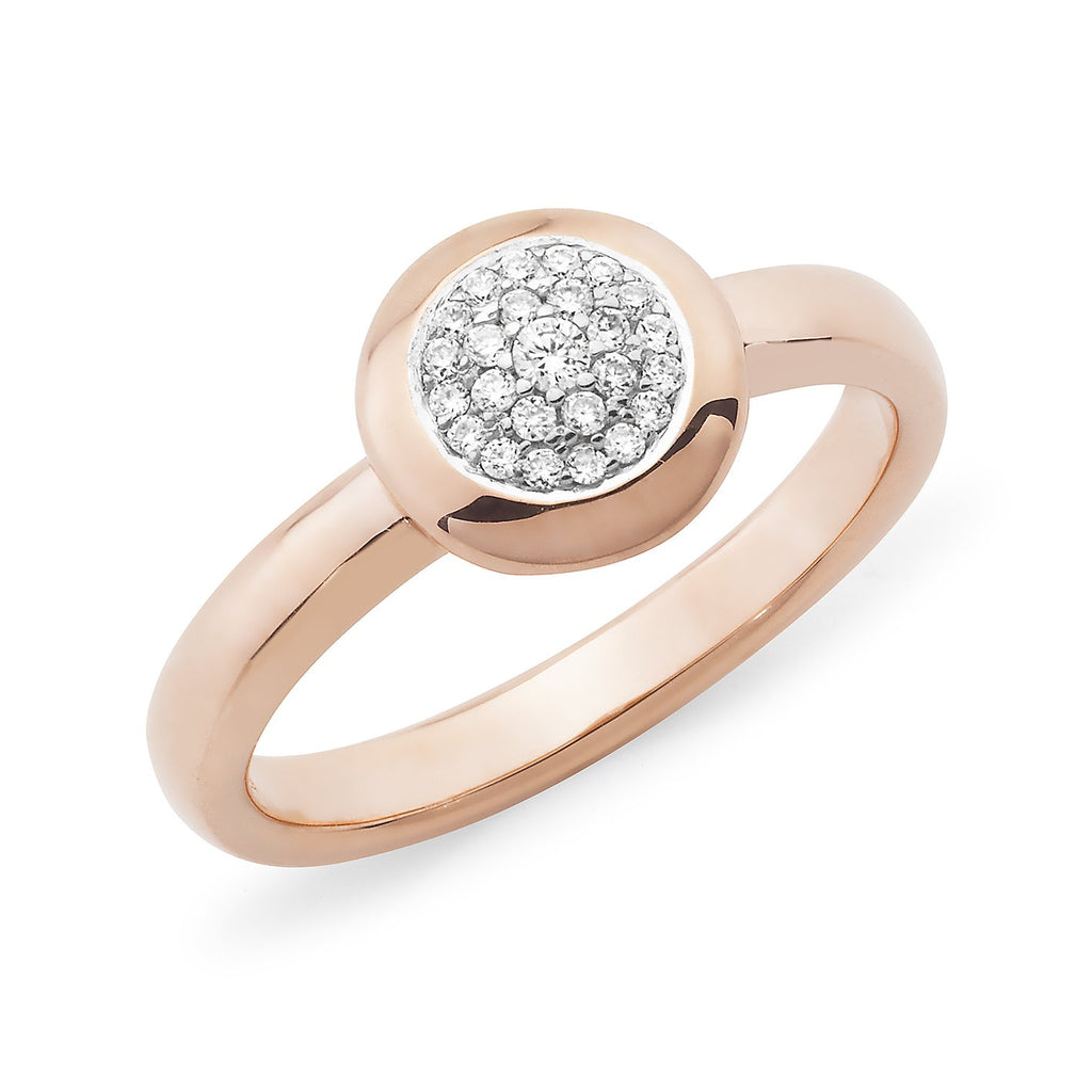 0.14ct Diamond Pave Dress Ring in 9ct Rose Gold