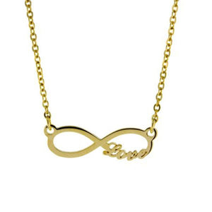 9ct 45cm Infinity with Love Necklace