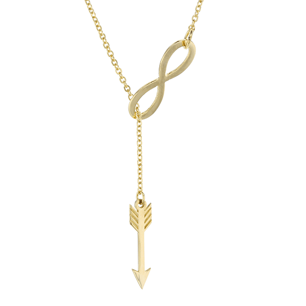 9ct 50cm Arrow Infinity Necklace