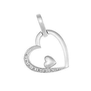 9ct Gold Double Heart Pendant
