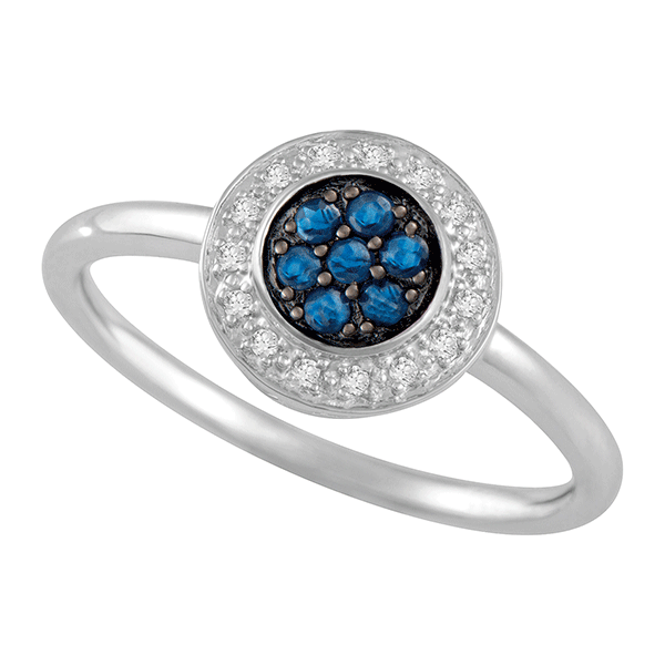9ct Gold Sapphire Dress Ring