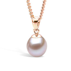 9ct Rose Gold Pink 7.5-8mm Freshwater Pearl Pendant