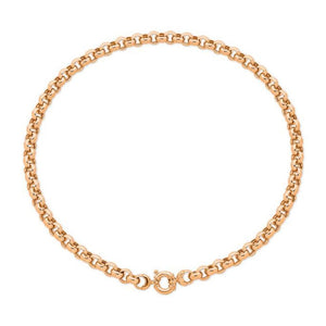 9Ct Rose Gold Silver Filled 45Cm Necklet With 9Ct Gold Bolt Ring