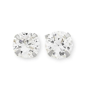 9Ct White Gold Cubic Zirconia Set Studs