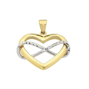 9Ct Two Tone Pendant