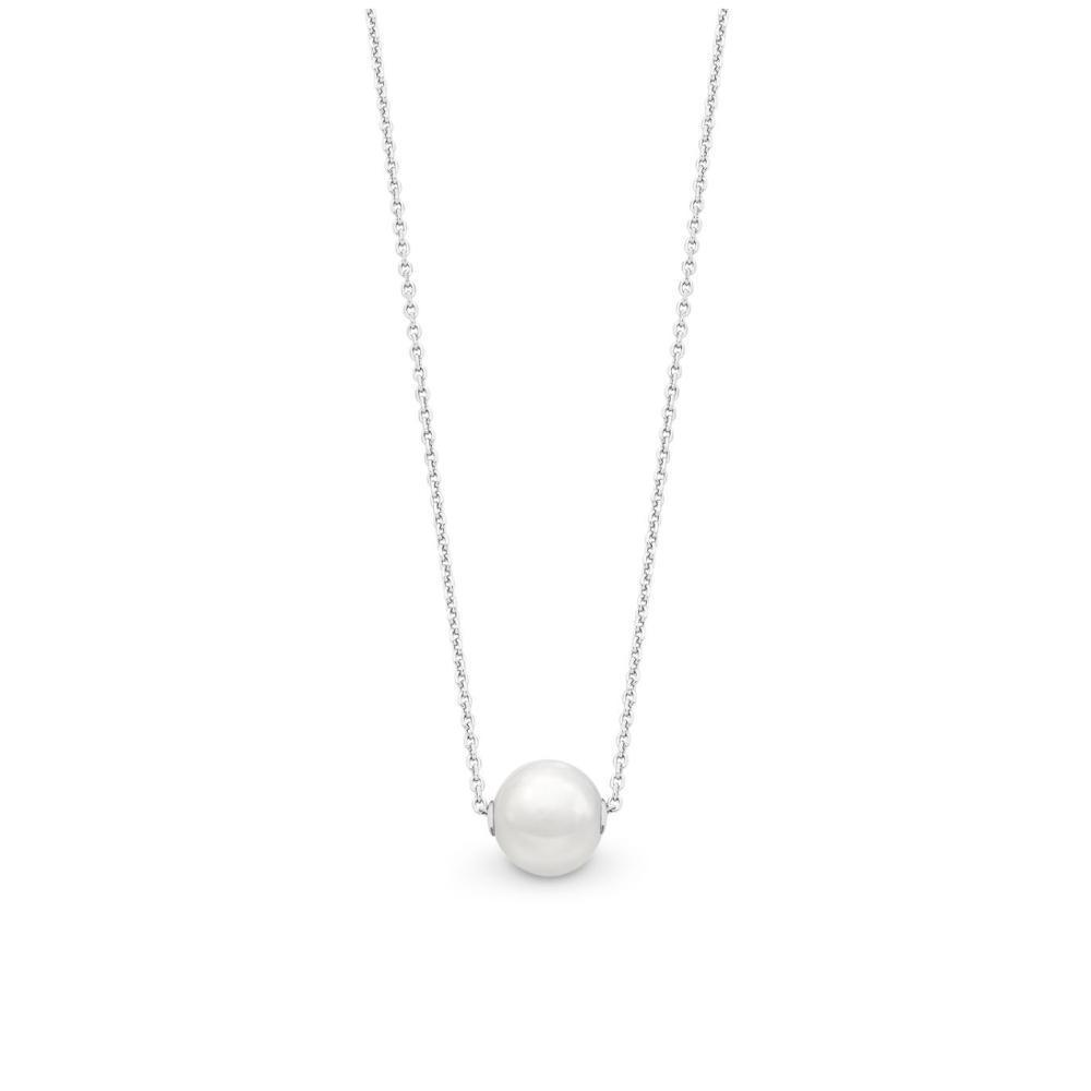 Sterling Silver Necklet With Freshwater Pearl
