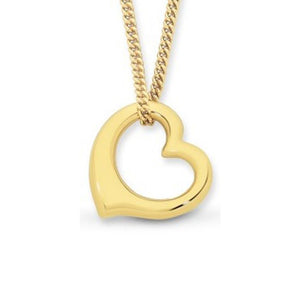 9Ct Gold Silver Filled Chain & Pendant