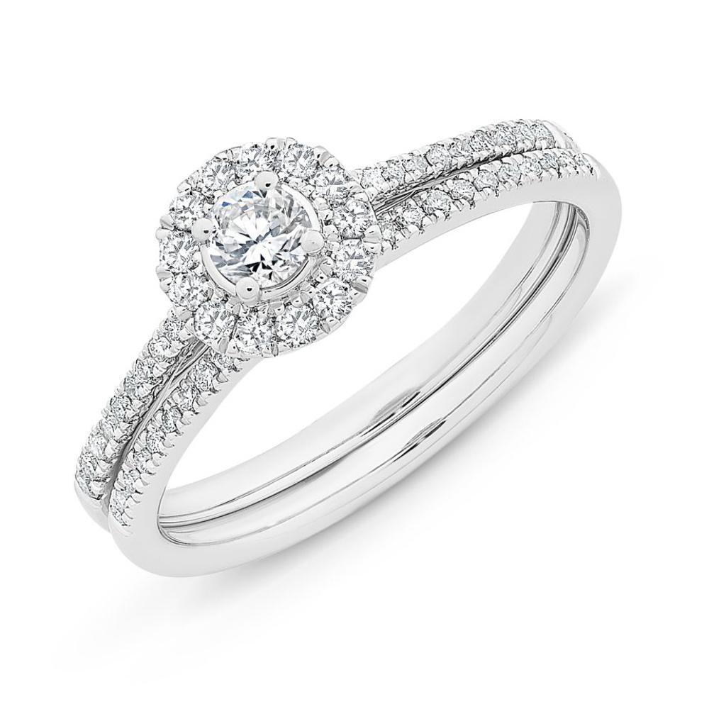 9Ct White Gold 0.50Ct Diamond Bridal Set