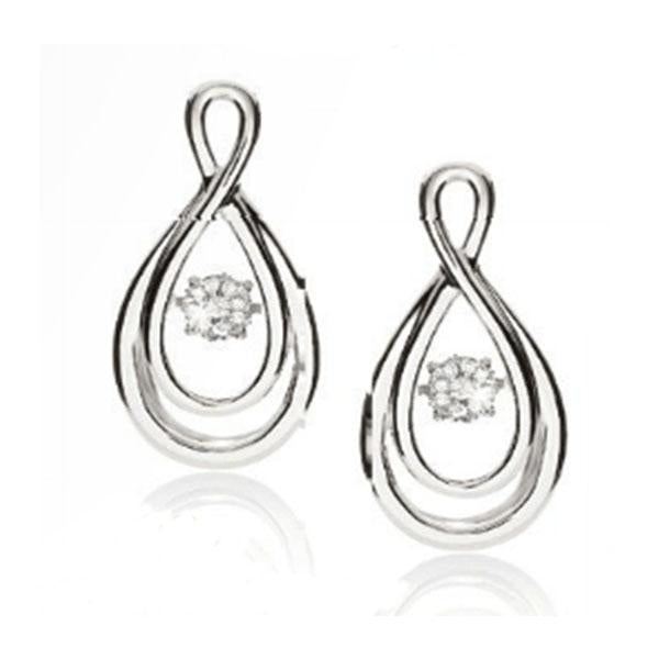 Dancing Diamonds 9ct white gold infinity earrings