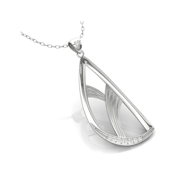 Elegance & Joy Flutter Large pendant with chain