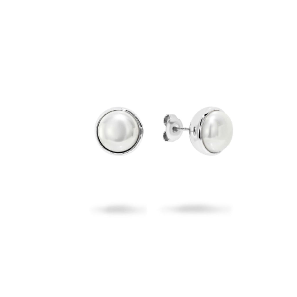 Georgini - Lucca Sterling Silver 10mm Pearl Stud Earrings