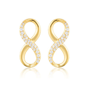 Georgini - Forever Infinity Gold Cubic Zirconia Stud Earrings