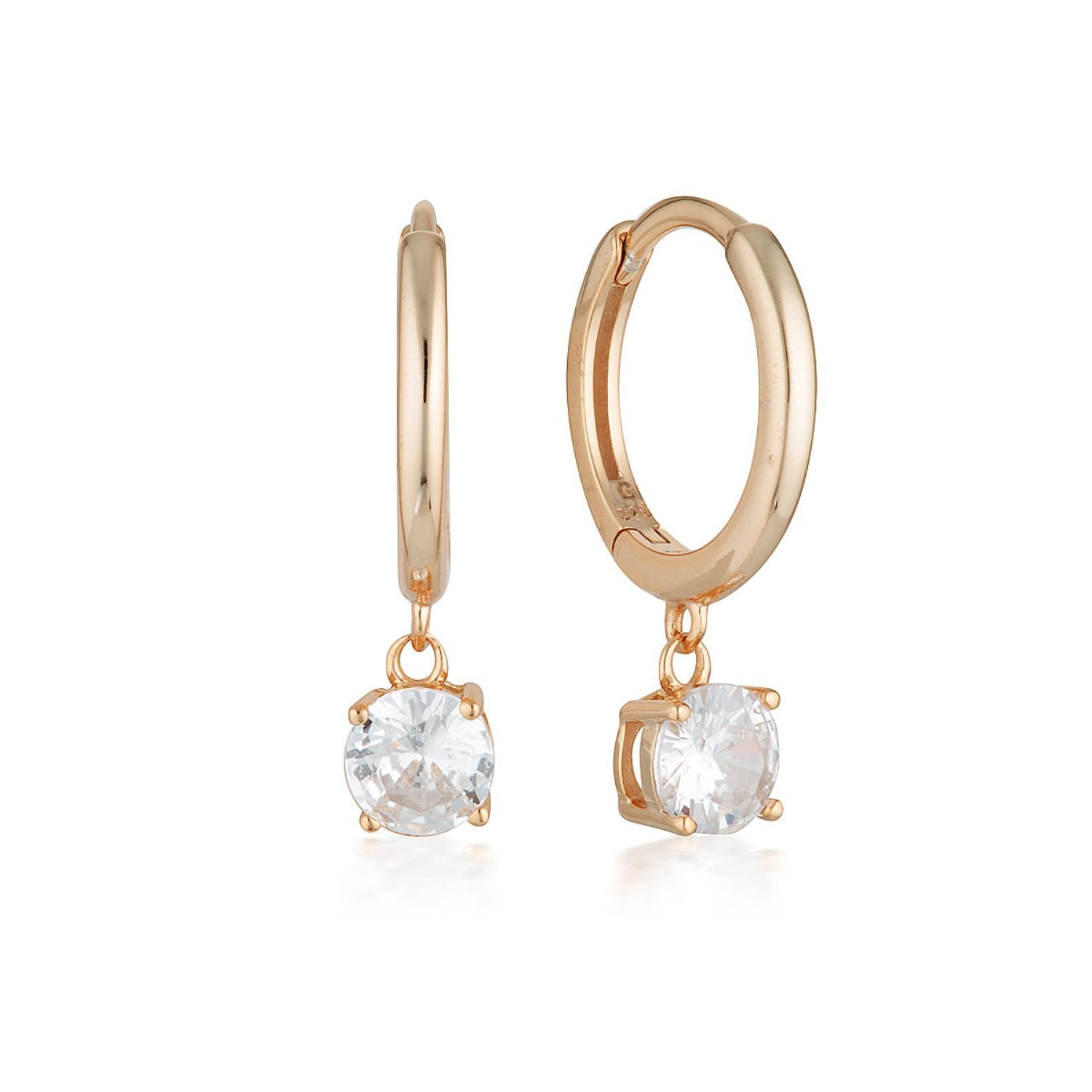 Georgini - Bria Rose Gold Cubic Zirconia Hoop Earrings