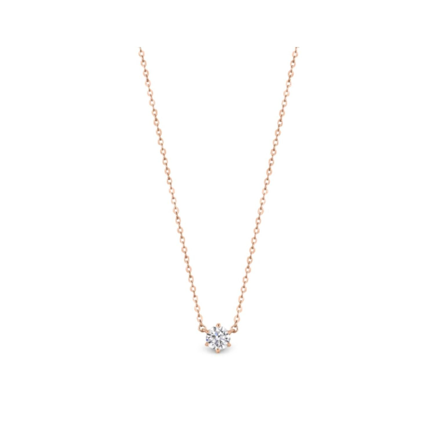 Georgini - Portobello Rose Gold Cubic Zirconia Necklet