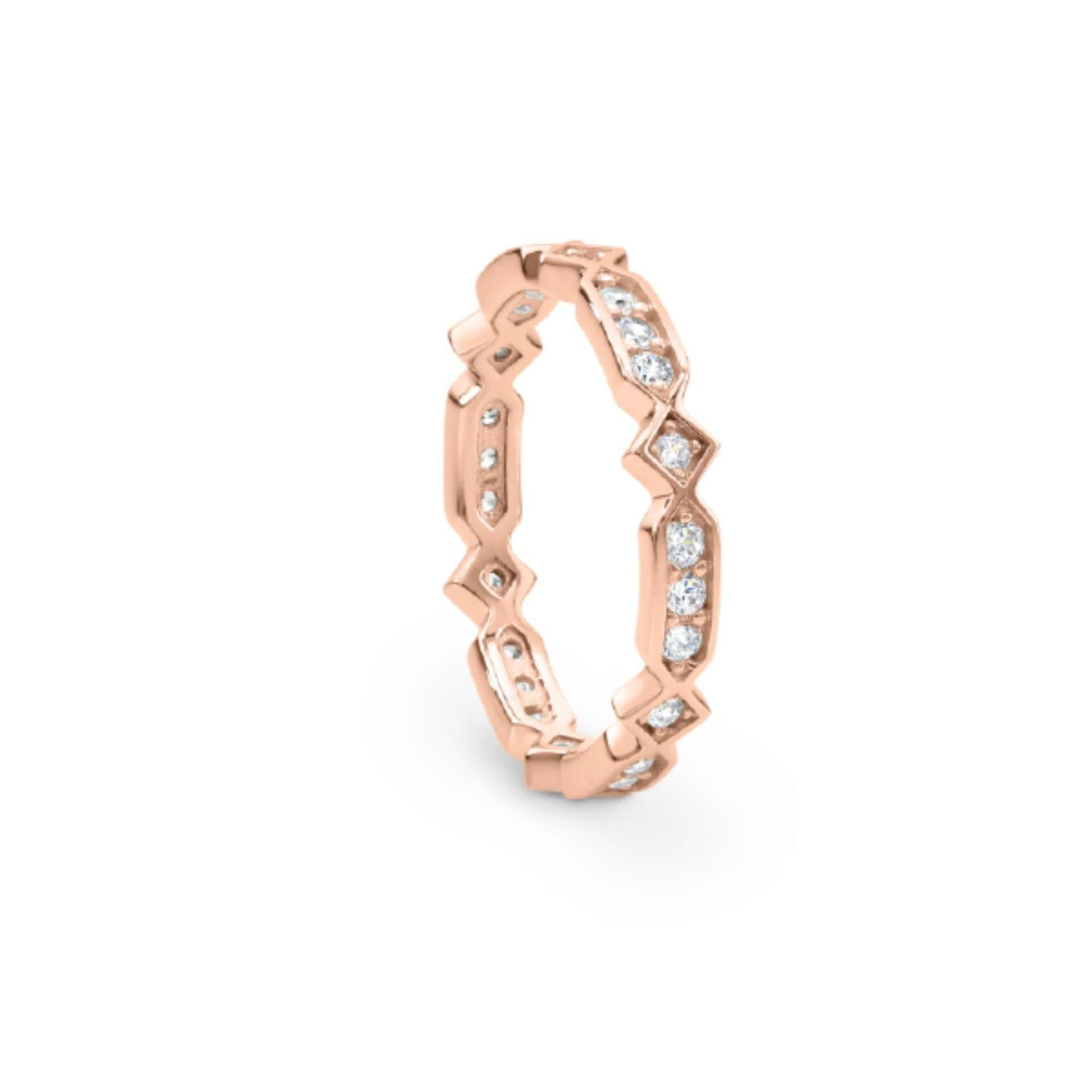 Georgini - Zuma Rose Gold Cubic Zirconia Ring