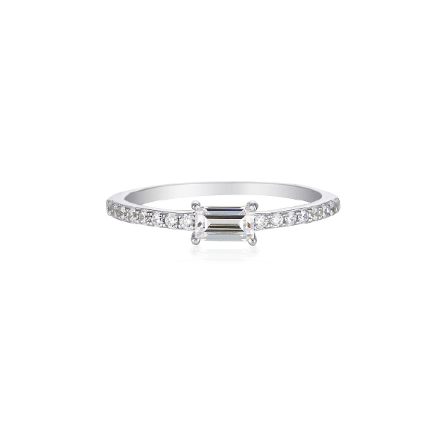 Georgini - Mika Baguette Sterling Silver Cubic Zirconia Ring
