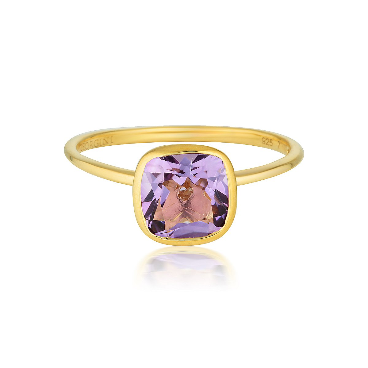 Georgini - Doros Yellow Gold Amethyst Ring
