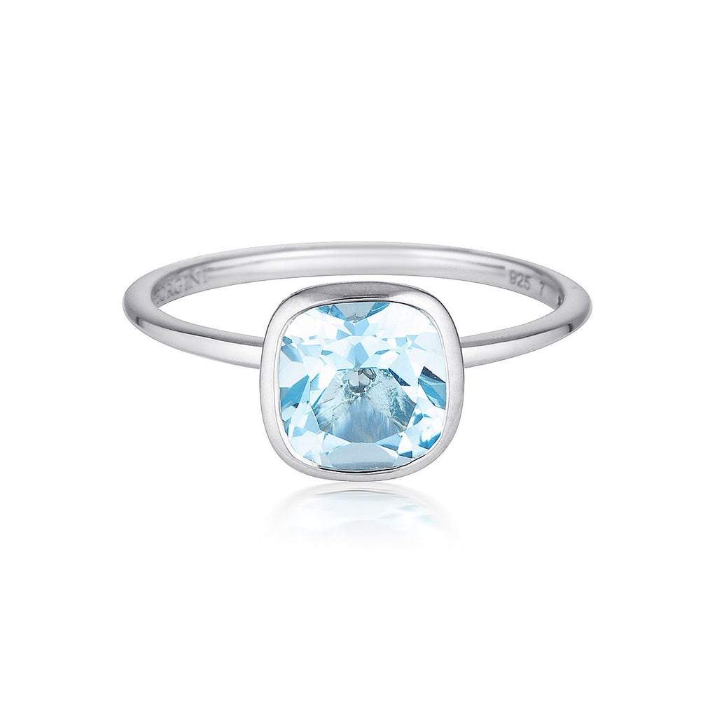 Georgini - Doros Sterling Silver Blue Topaz Ring