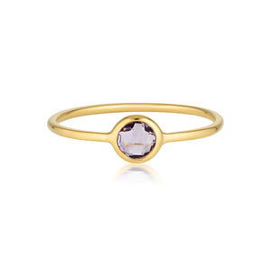 Georgini - Eos Yellow Gold Amethyst Ring