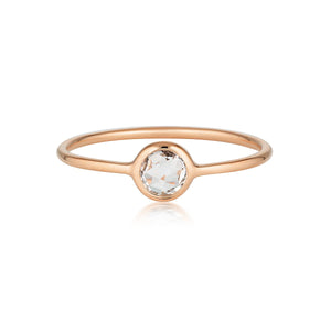 Georgini - Eos Rose Gold White Topaz Ring