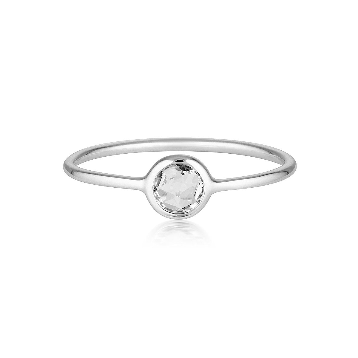 Georgini - Eos Sterling Silver White Topaz Ring