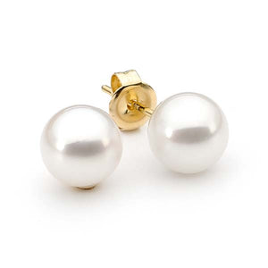 Ikecho Japanese Akoya Pearl Stud Earrings