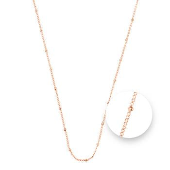 Nikki Lissoni Ball Rose Gold Plated Necklace