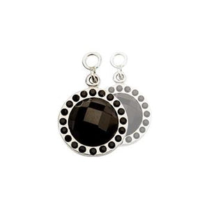 Nikki Lissoni Chic Earring Coins With Black Mirror Glass And Swarovski Crystals