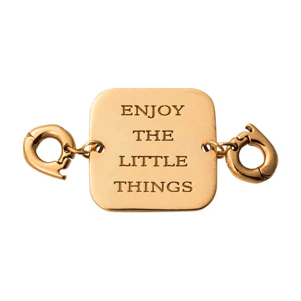 Nikki Lissoni Gold Plated Enjoy Little Things Two Lock Tag