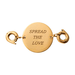 Nikki Lissoni Gold Plated Spread The Love Two Lock Tag