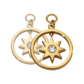 Nikki Lissoni Gold Plated Wish Upon A Star Earring Coins