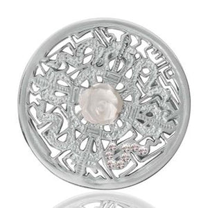 Nikki Lissoni Kingdom Of Roses, Silver Plated Coin