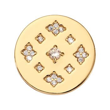 Nikki Lissoni Parisian Sparkle Coin Gold Plated
