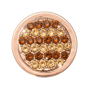 Nikki Lissoni Rose-Gold Plated Fashion Gold 23mm Coin
