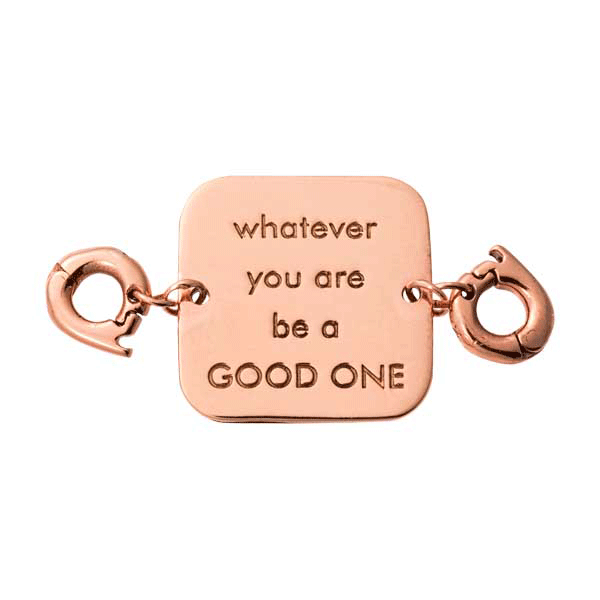 Nikki Lissoni Rose-Gold Plated Whatever You Two Lock Tag
