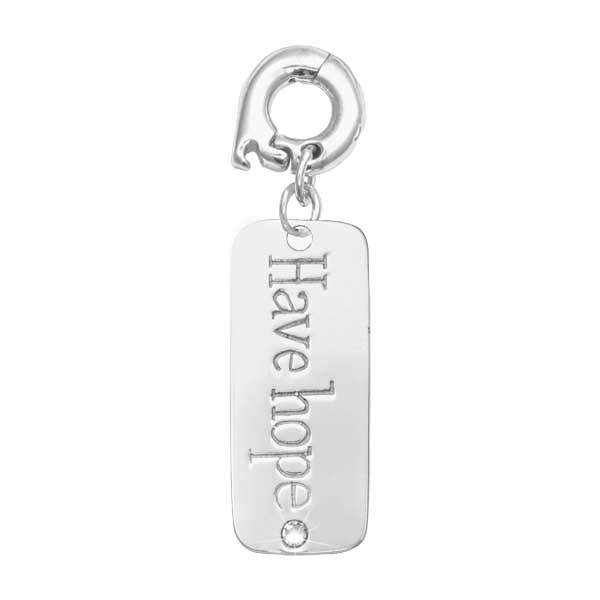 Nikki Lissoni Silver Plated Have Hope 25mm Charm