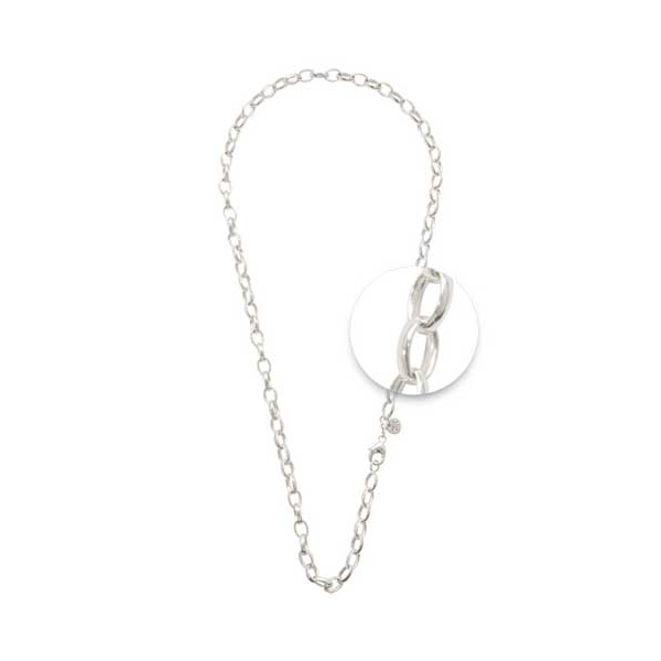 Nikki Lissoni Silver Plated Oval Blchr Charm Necklace 45cm