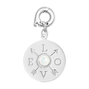 Nikki Lissoni Silver Plated Show Me Love 20mm Charm