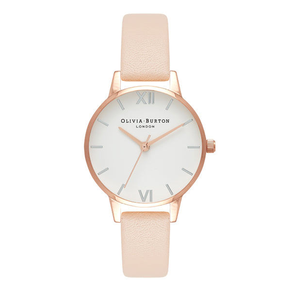 Olivia Burton  White Dial Midi   Rose Gold Ladies Watch