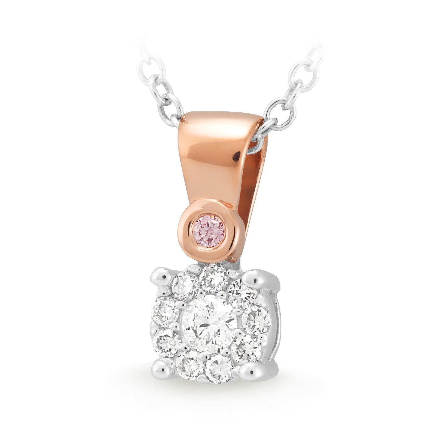 PINK CAVIAR 0.165ct Pink Diamond Pendant in 9ct Rose Gold