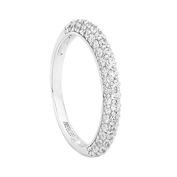 Pave Domed Band Ring