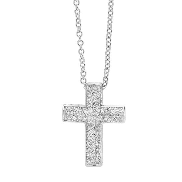 Pave Set Cross